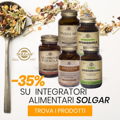 Sconto -35% su Integratori Alimentari Solgar